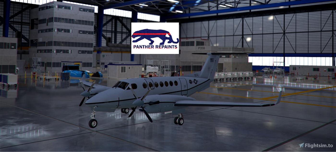 Asobo-KingAir350-USAF [Version 1.10.7.0] Flight Simulator 2020