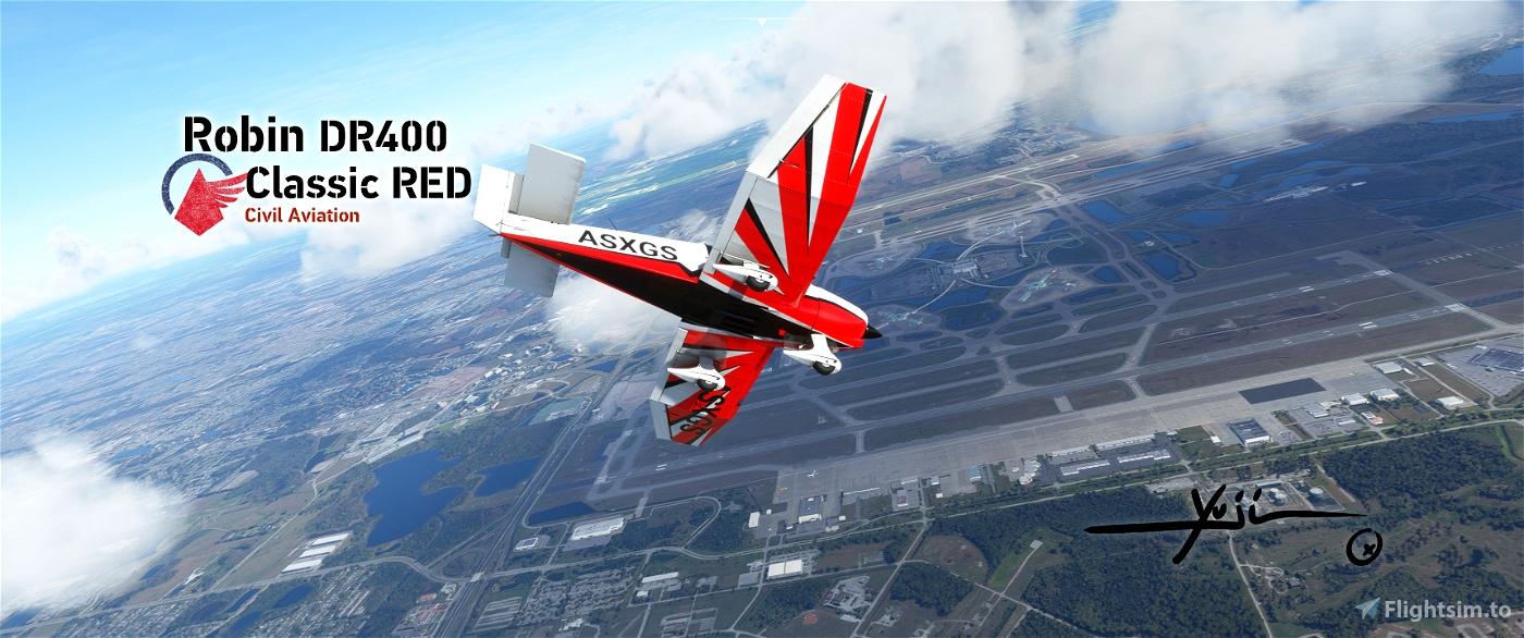 Robin DR400 Classic RED Flight Simulator 2020