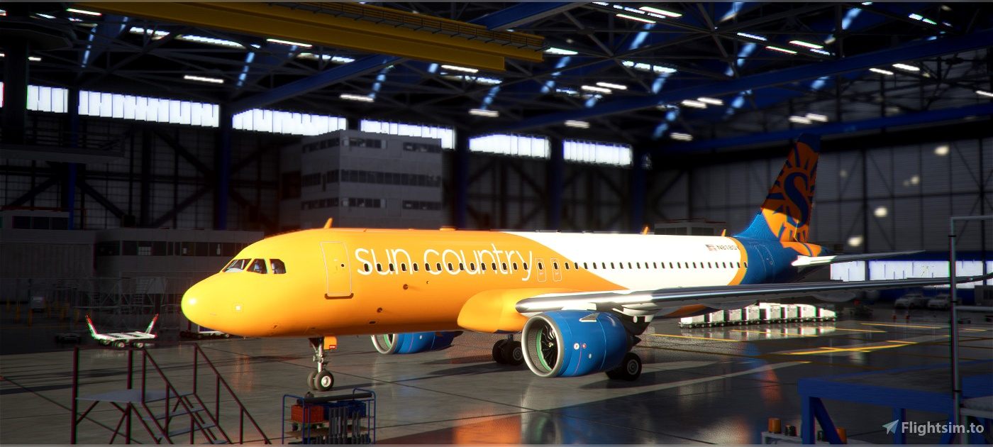 Sun Country A320 Livery