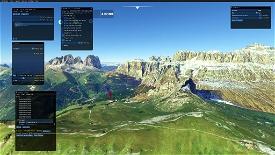 Sass Pordoi Microsoft Flight Simulator