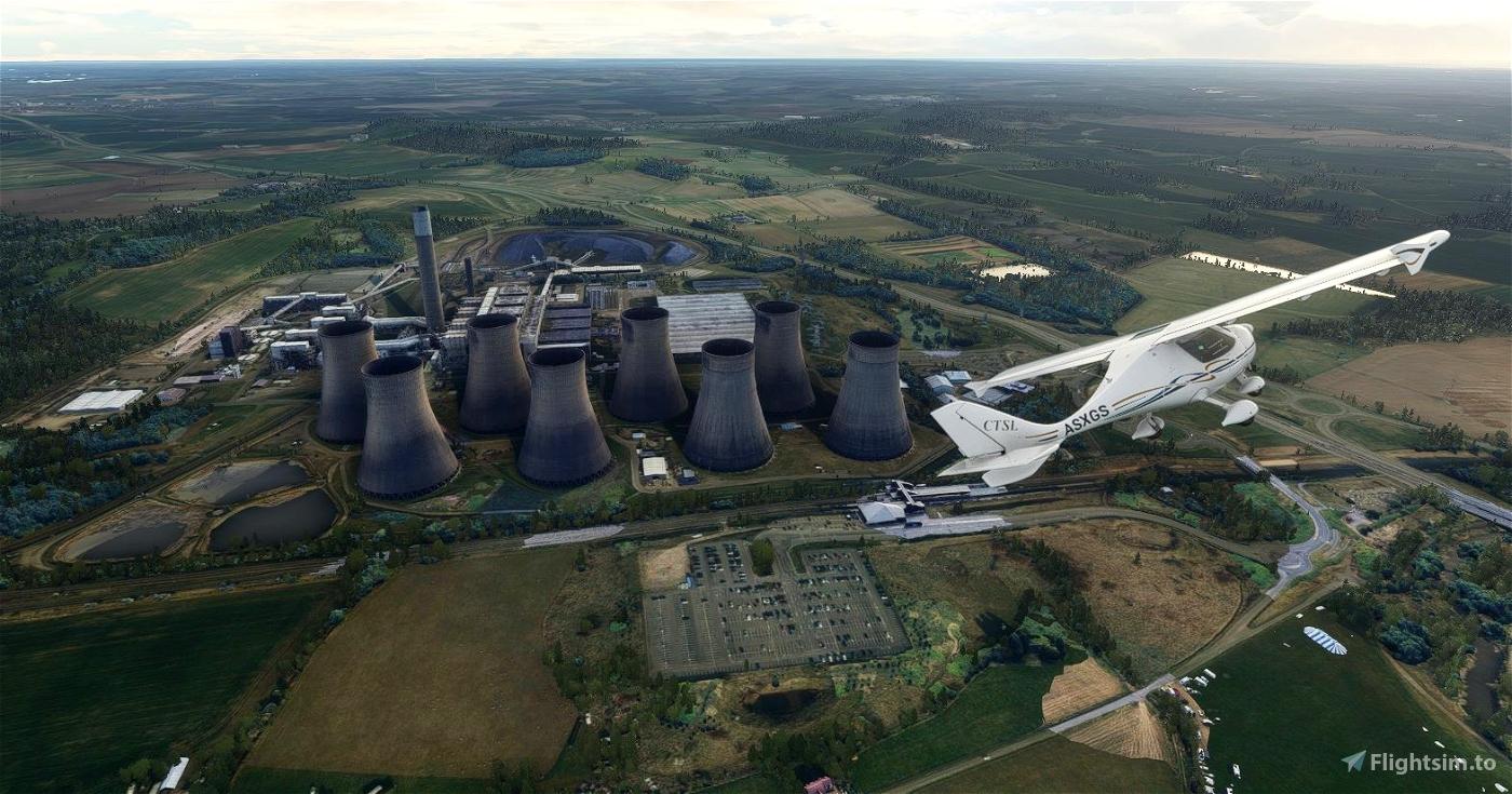 Ratcliffe Power Station Microsoft Flight Simulator