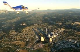 Centrale Thermique de Gardanne Microsoft Flight Simulator