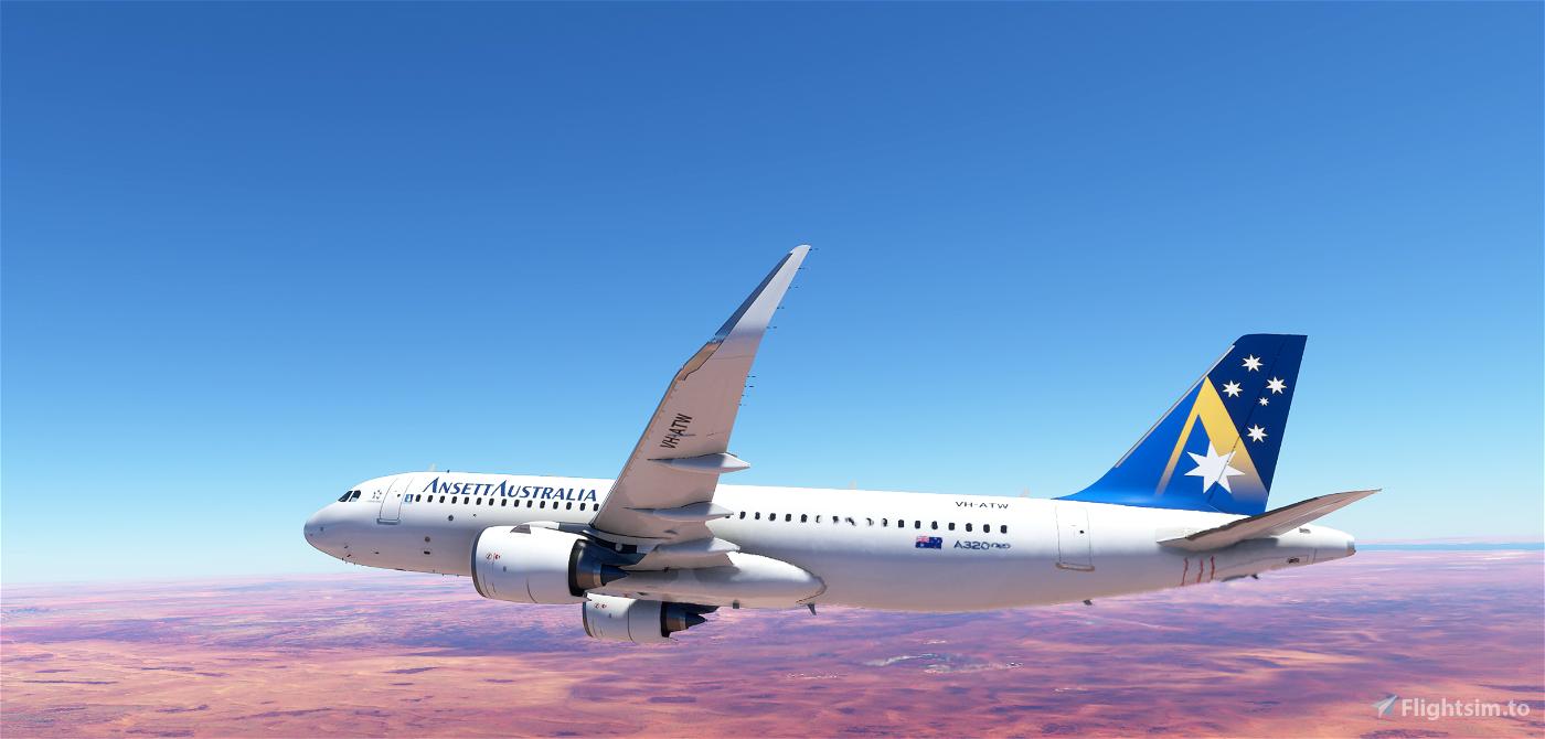 Ansett Australia A320 Neo Flight Simulator 2020