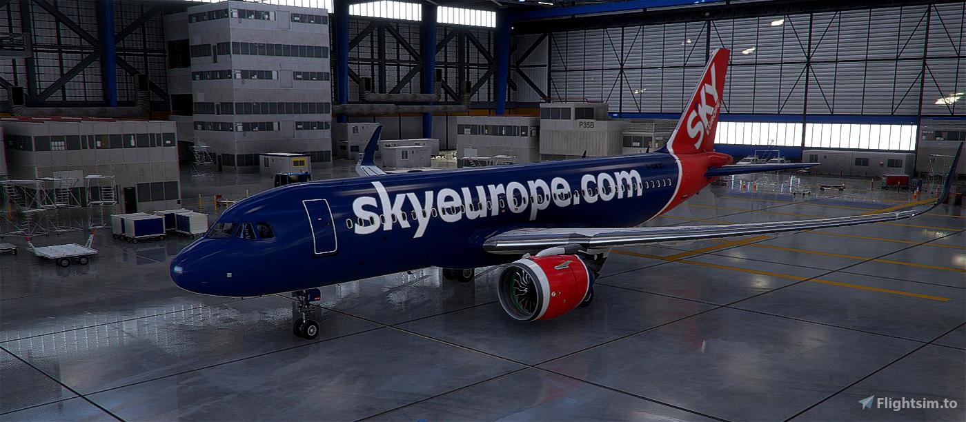 SkyEurope A320N Livery Flight Simulator 2020