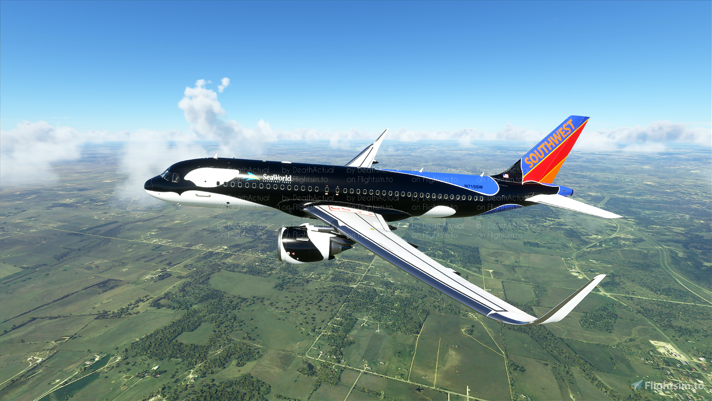 Southwest Airlines Shamu livery Flight Simulator 2020