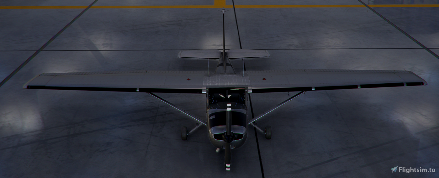 C152 Worn Metal Bare for FS2020 1.10.8.0