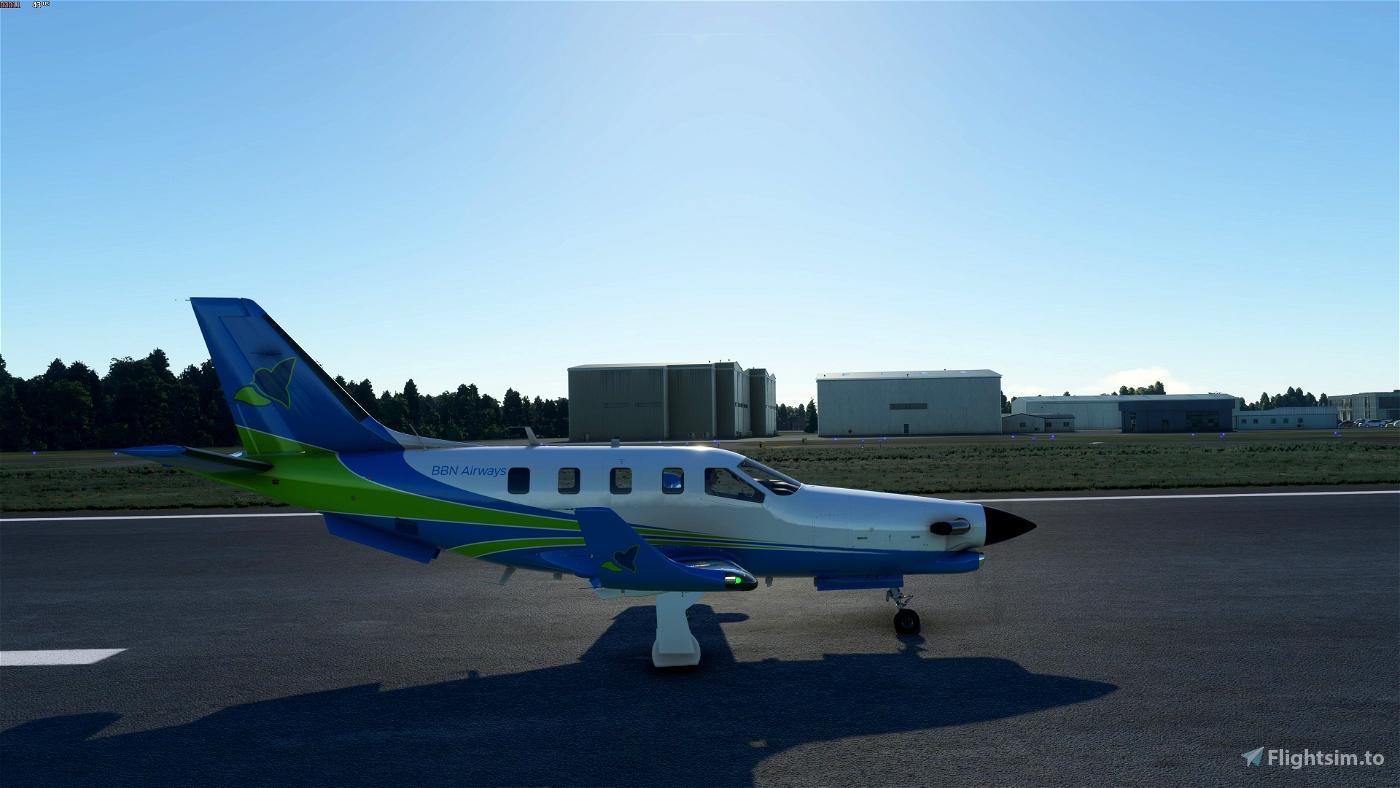 Daher TBM 930 - BBN Airways Repaint  Flight Simulator 2020