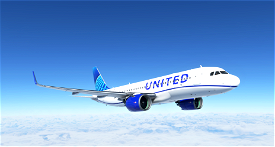8K United Airlines Blue Livery A320neo Image Flight Simulator 2020
