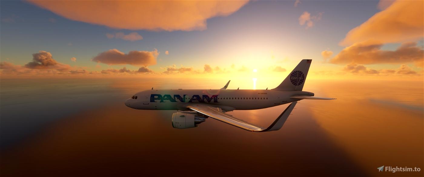 Airbus A320 PAN AM Flight Simulator 2020