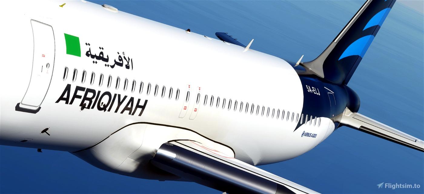 Afriqiyah Airways - pre 2011/old Libyan flag [patch 5] Flight Simulator 2020