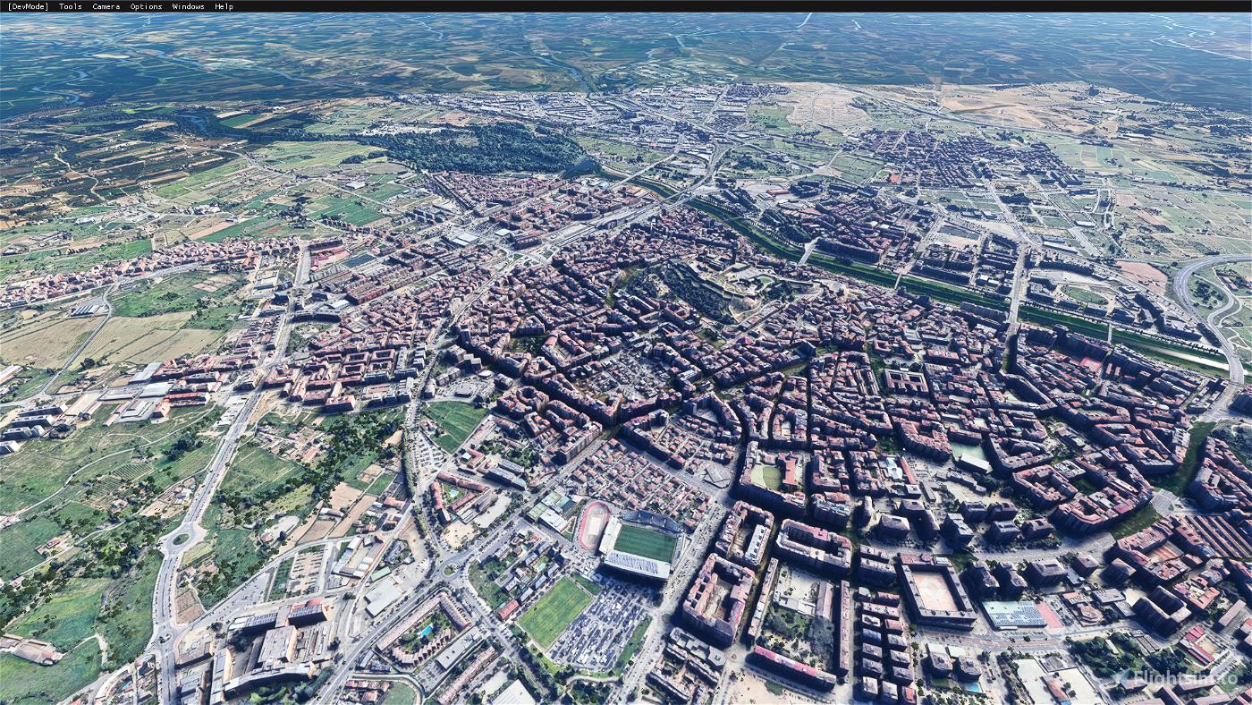 Lleida City, Spain Microsoft Flight Simulator