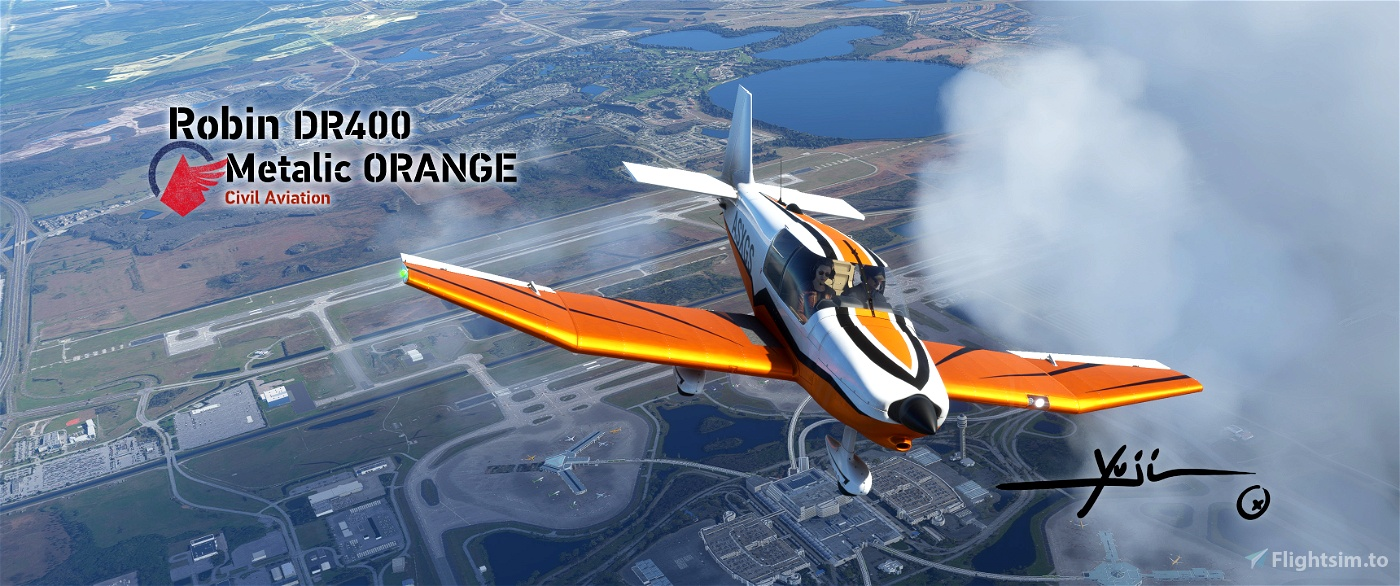 Robin DR400 Metalic ORANGE Flight Simulator 2020