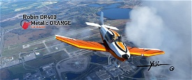 Robin DR400 Metalic ORANGE Image Flight Simulator 2020