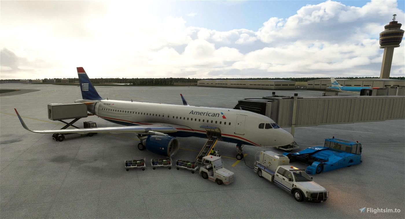 heritage of US Airways - American Airlines A320 Flight Simulator 2020