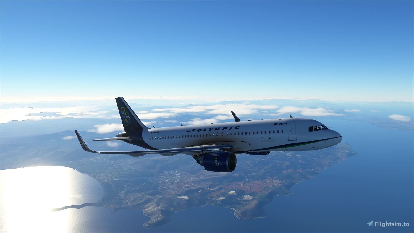Olympic Air A320 Neo Livery Image Flight Simulator 2020
