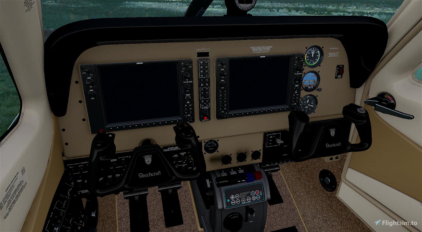Bonanza beige panel Flight Simulator 2020