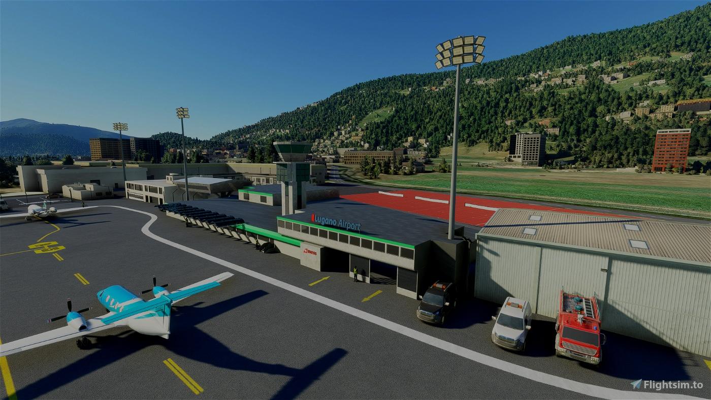 Lugano-Agno (LSZA) Airport - Switzerland - (tchax95) Microsoft Flight Simulator