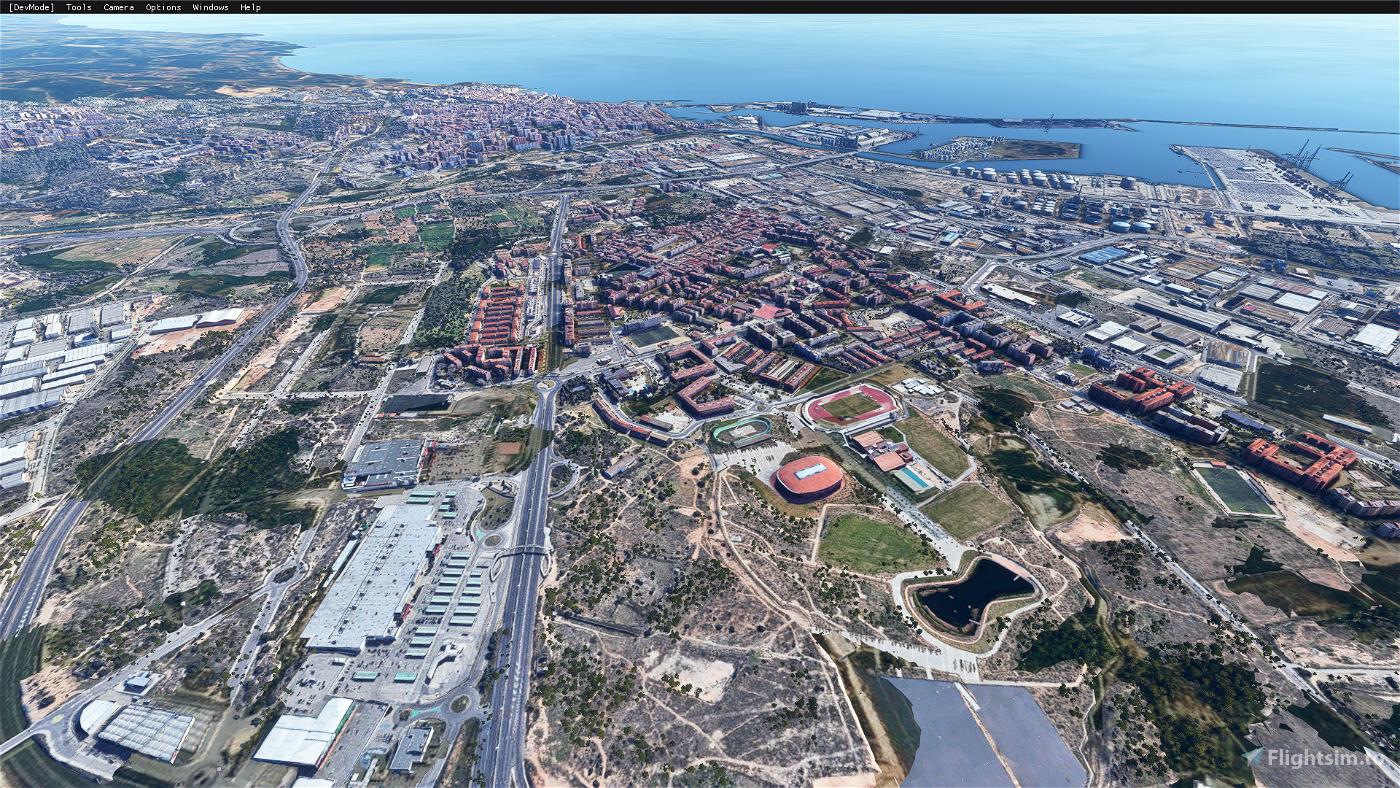 Tarragona city,Spain Microsoft Flight Simulator