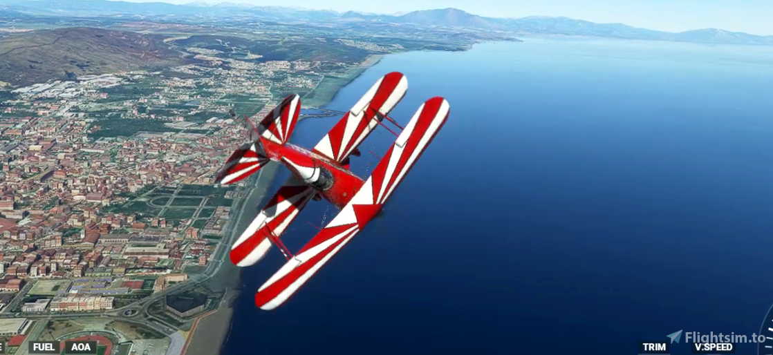 Pitts S-2S X spin and snap roll mod Flight Simulator 2020