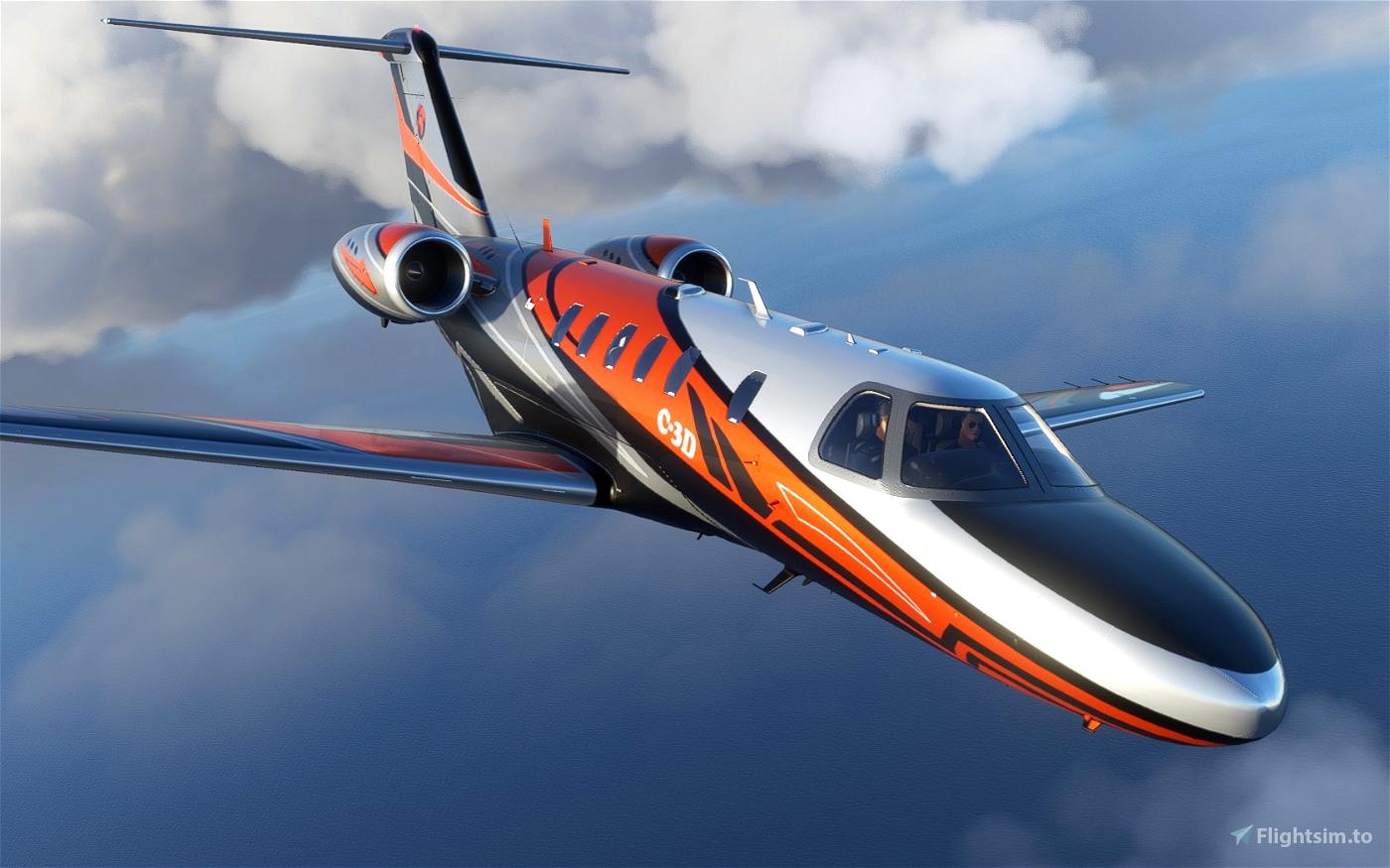Livery Cessna CJ4 C-3D Flight Simulator 2020