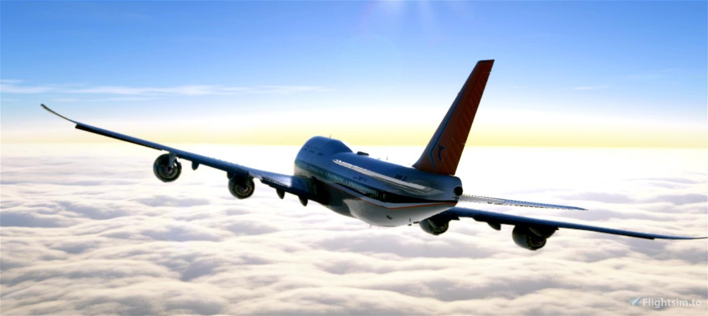 South African Airways Retro 747
