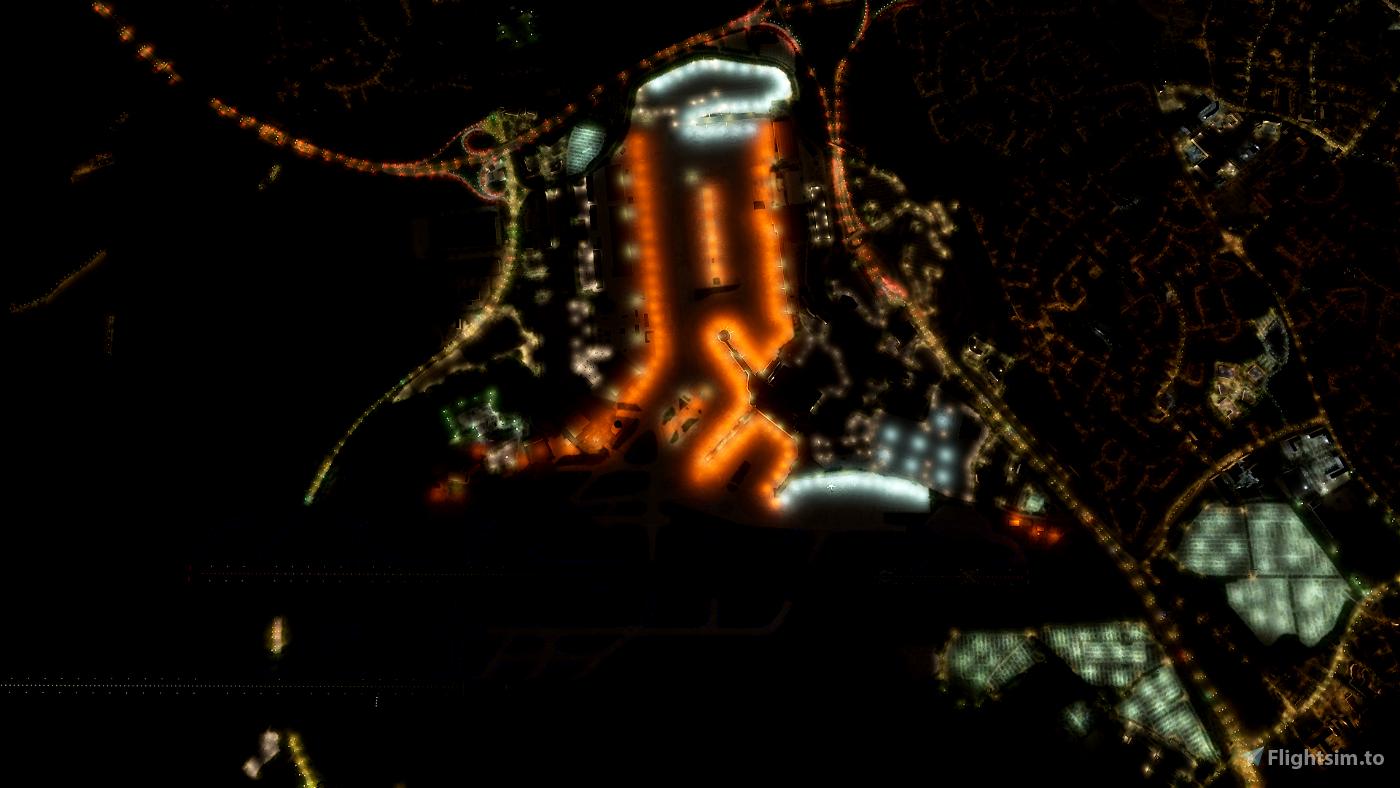 EGCC Manchester Airport - Night Lighting Improvement Microsoft Flight Simulator