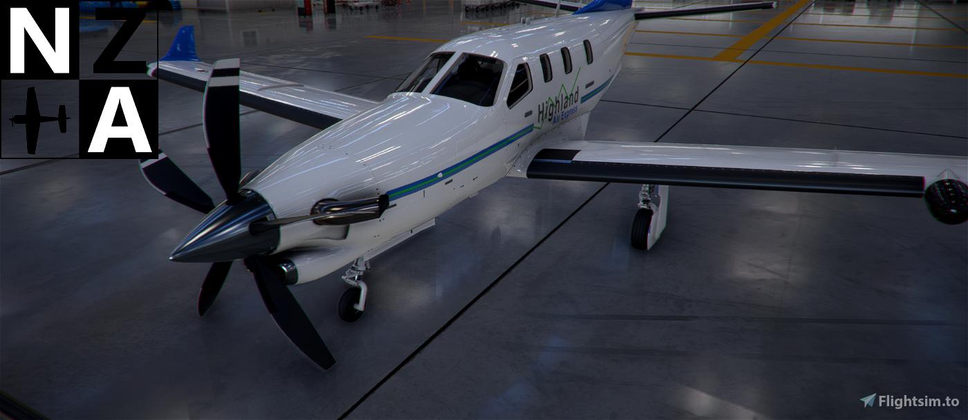 Papua New Guinea (PNG) Highland Air Express TBM 930 Flight Simulator 2020