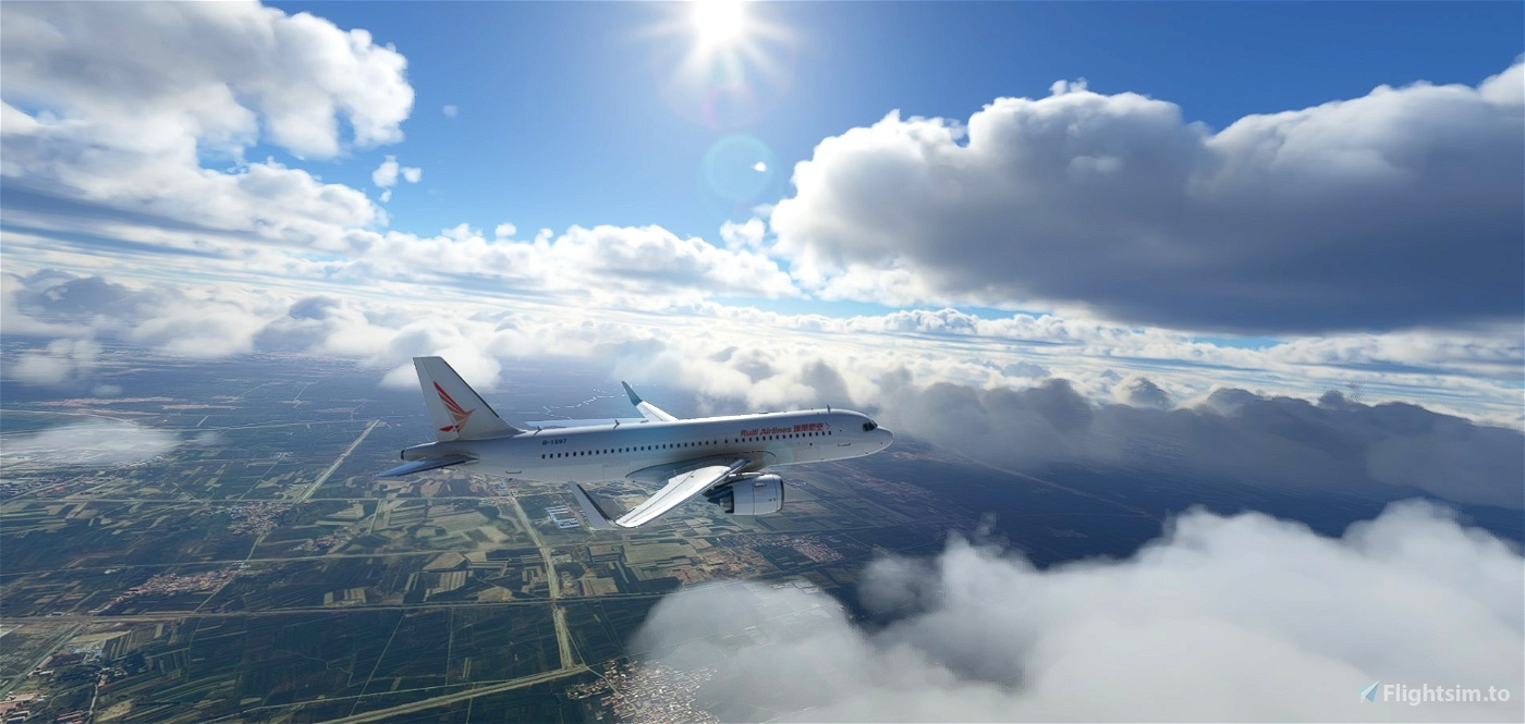 4K Ruili Airlines White Flight Simulator 2020
