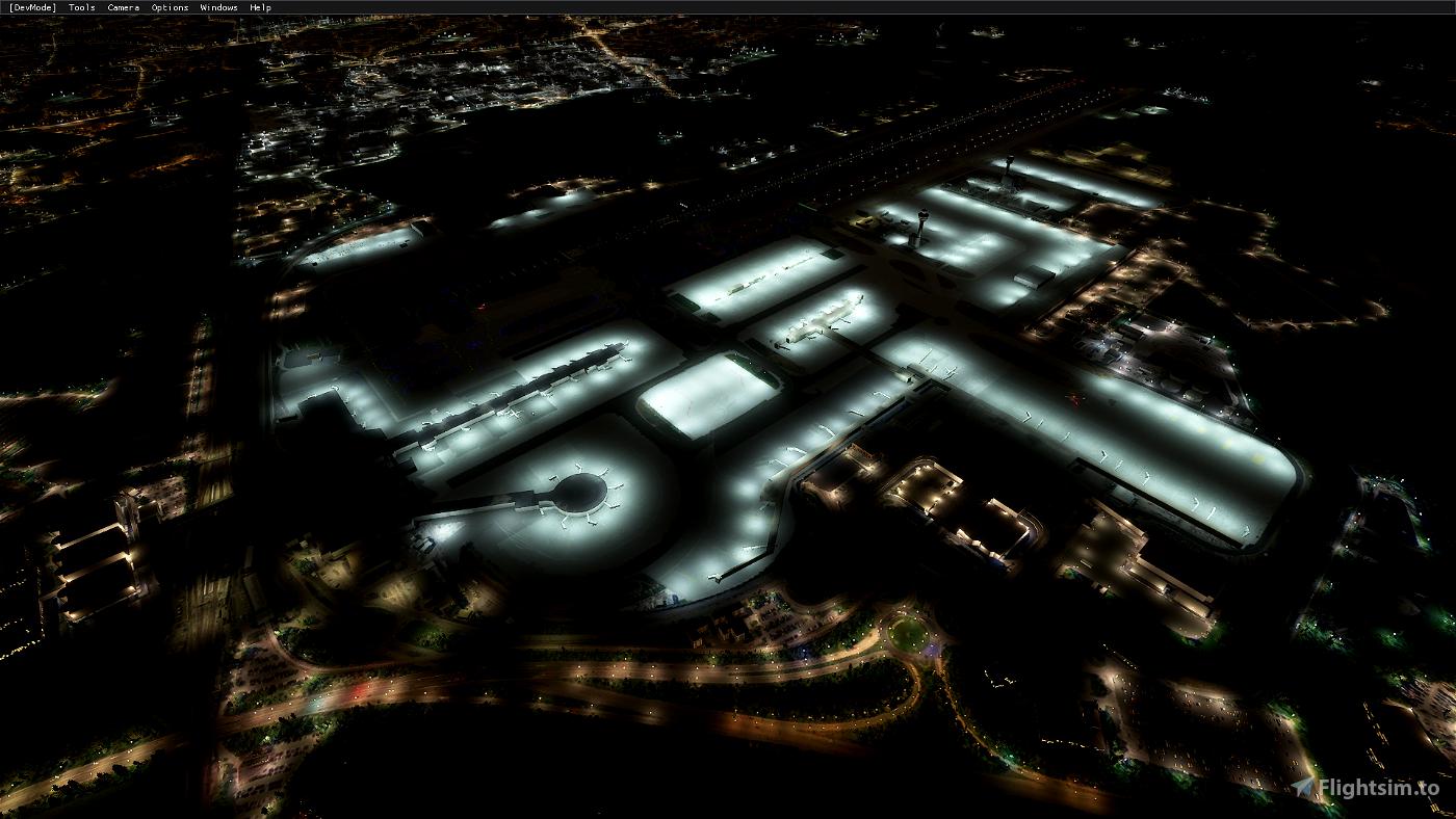 EGKK Gatwick Airport - Night Lighting Improvement Microsoft Flight Simulator