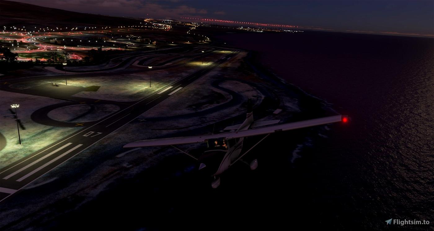 GCLB_V1 Luces en el Aerodromo de El Berriel ( Gran Canaria )