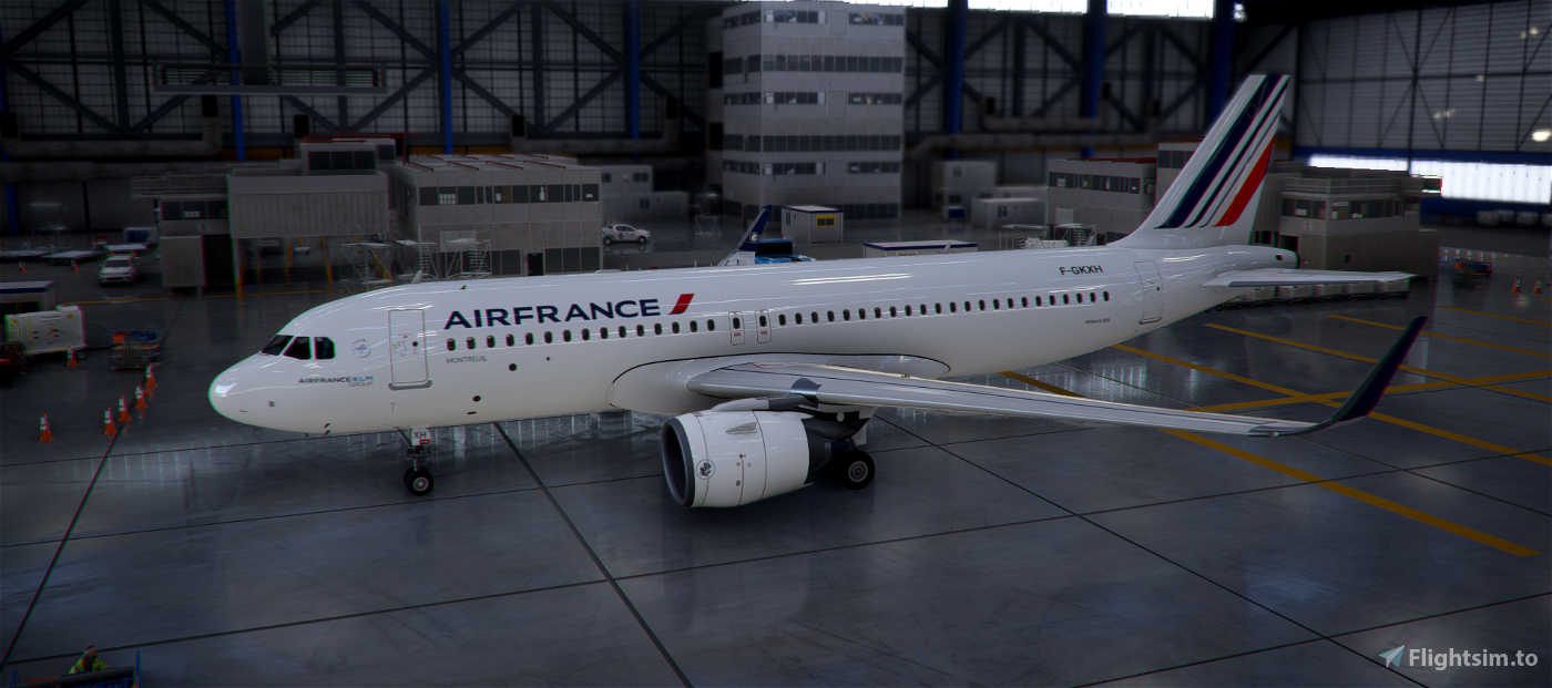 A320Neo Air France Montreuil Edition (based on F-GKXH) Flight Simulator 2020