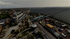 Southend Pier and town Microsoft Flight Simulator