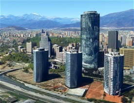 Paque Titanium , 3 torres - Santiago - Chile Microsoft Flight Simulator
