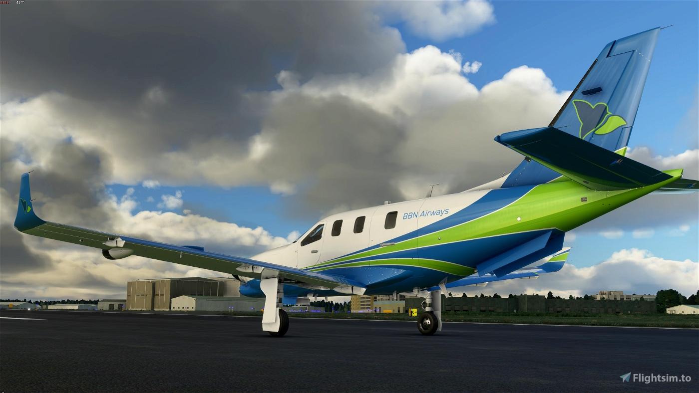 Daher TBM 930 - BBN Airways Repaint