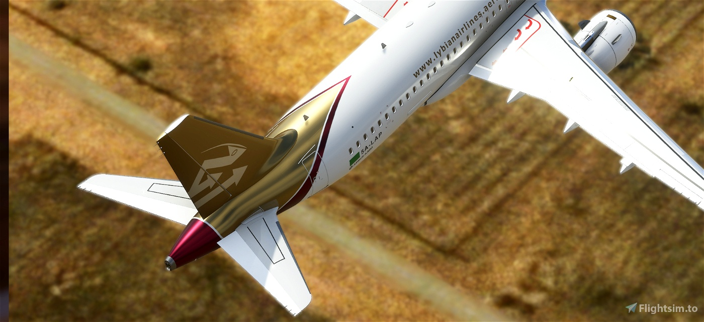Libyan Airlines - pre2011/old Libyan flag [patch 5]