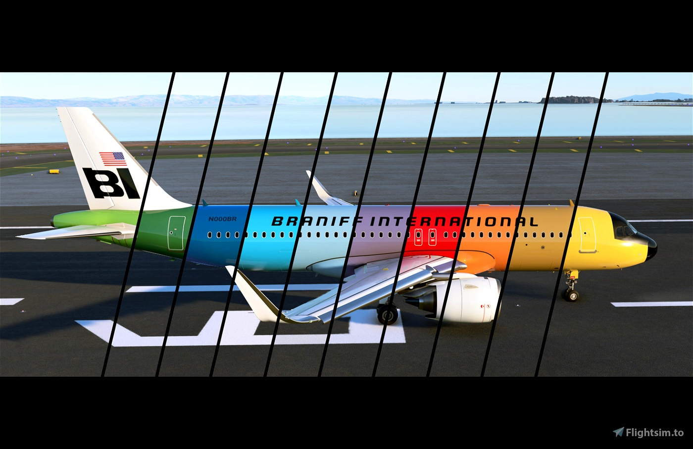 Braniff International Flying Colors Retro 10 Pack [4K Livery] Flight Simulator 2020