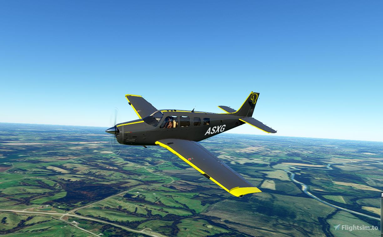 Bonanza Yellow/Grey Flight Simulator 2020