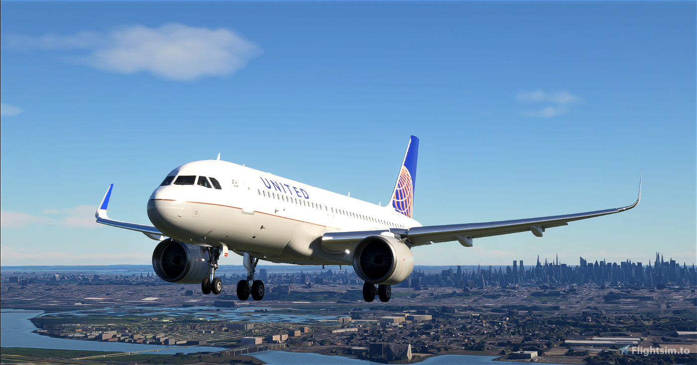 United Airlines A320neo 8K Textures  Flight Simulator 2020