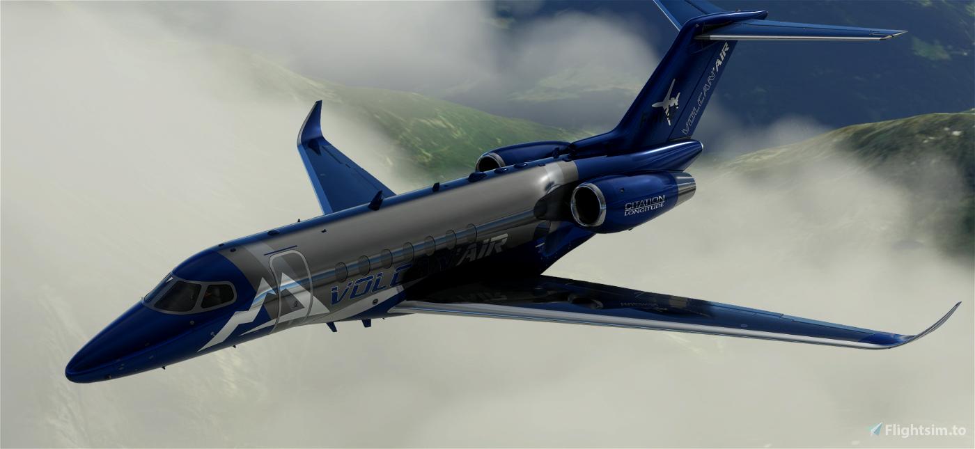VOLCAN AIR CITATION LONGITUDE Flight Simulator 2020