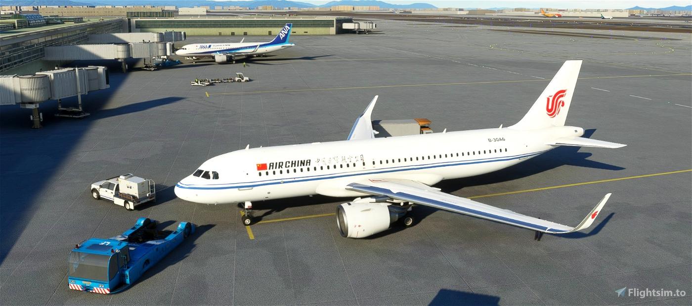 4k Air China A320neo Flight Simulator 2020