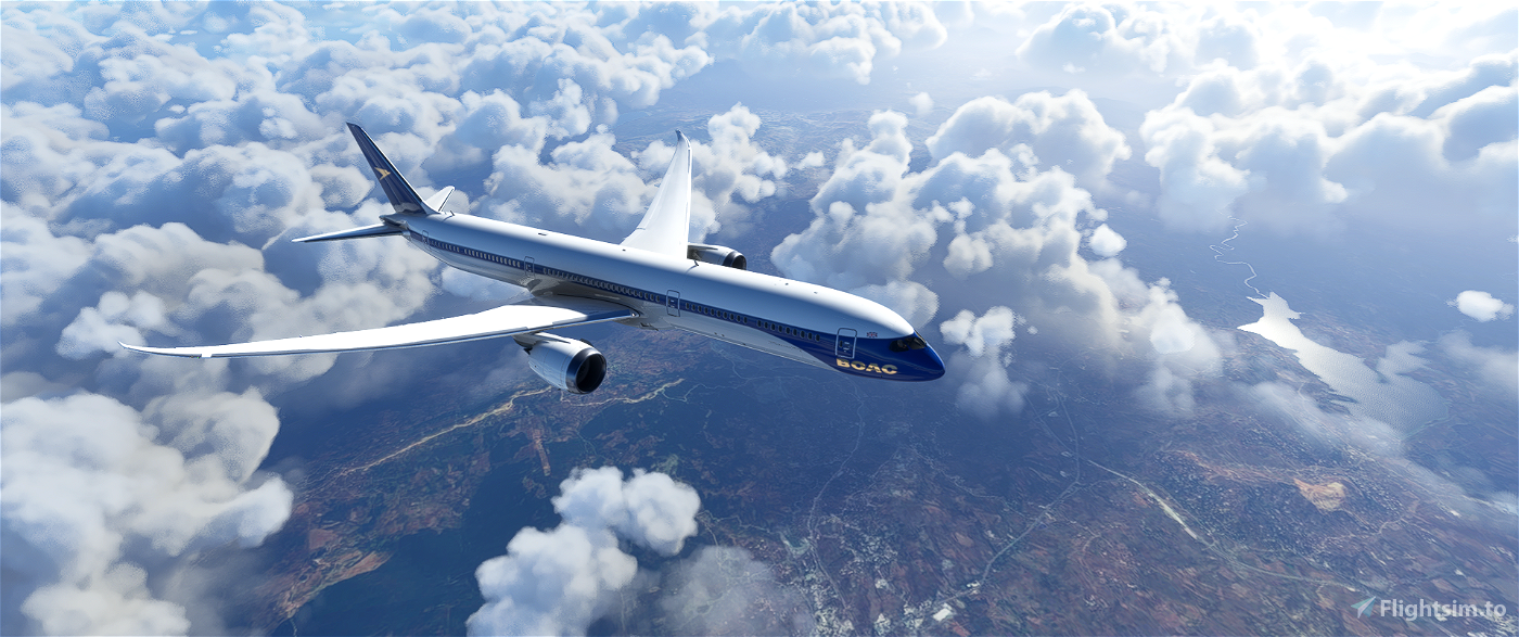 B787 BOAC   8K Flight Simulator 2020
