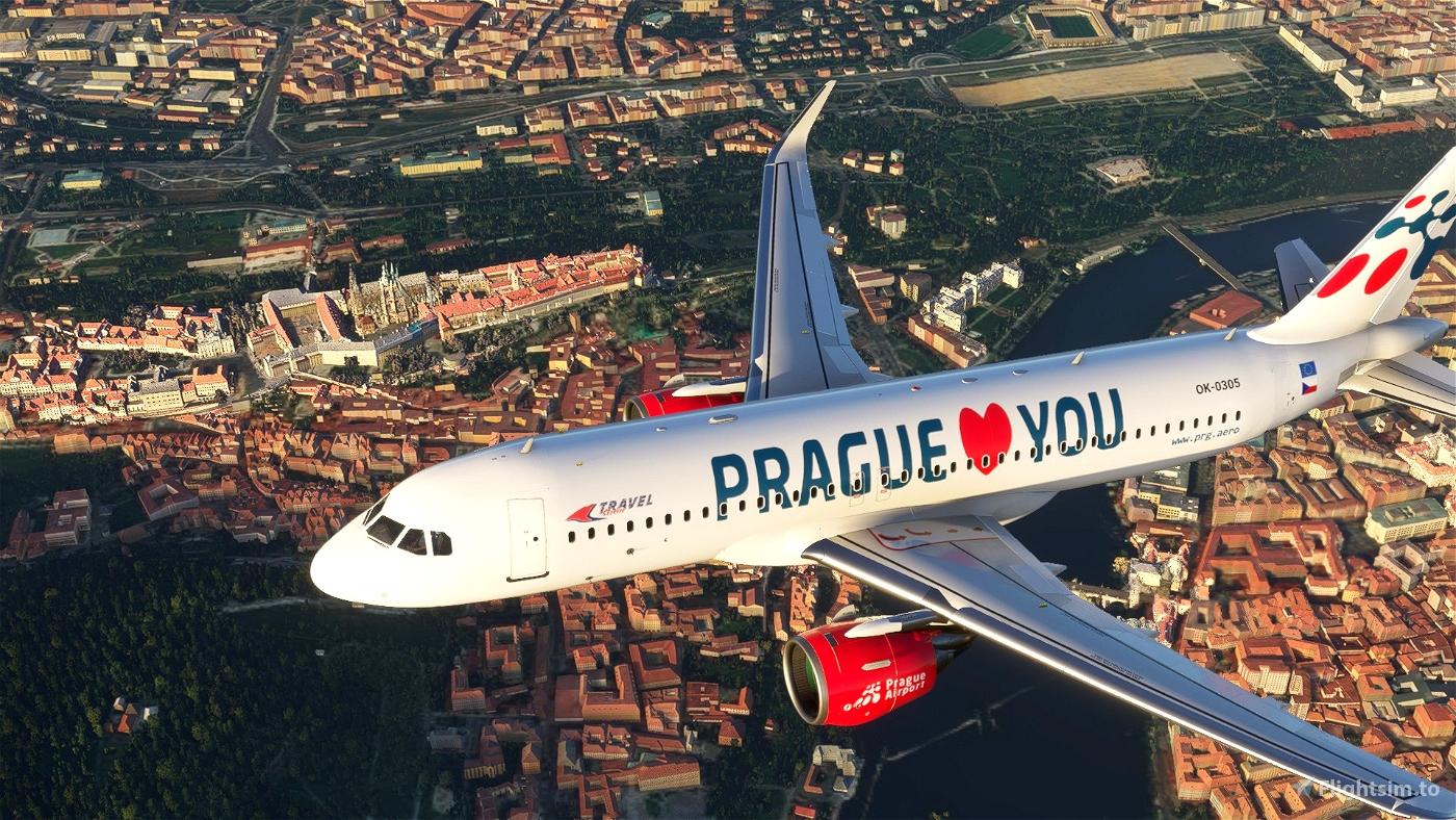 A320 NEO (Czech)Travelservice LovePrague Flight Simulator 2020