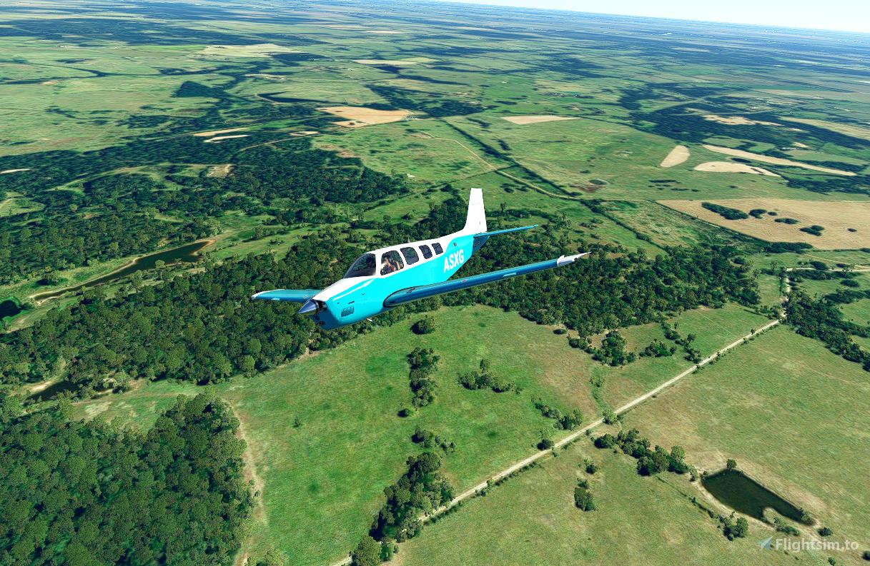 Bonanza Aquamarine (4K Updated) Flight Simulator 2020