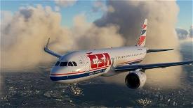 A320 NEO ČSA (Czech Airlines) Old (Year 2009) Image Flight Simulator 2020