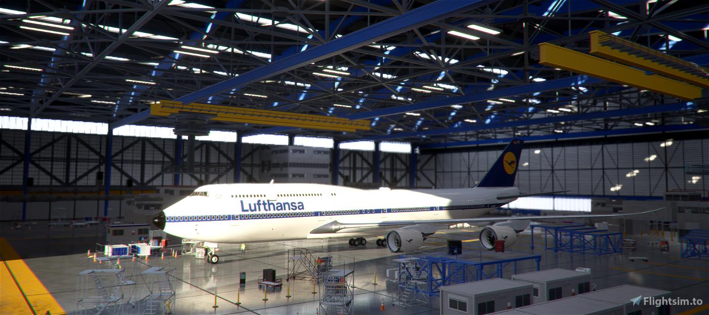 B747-8 Lufthansa Retro [8K] Flight Simulator 2020