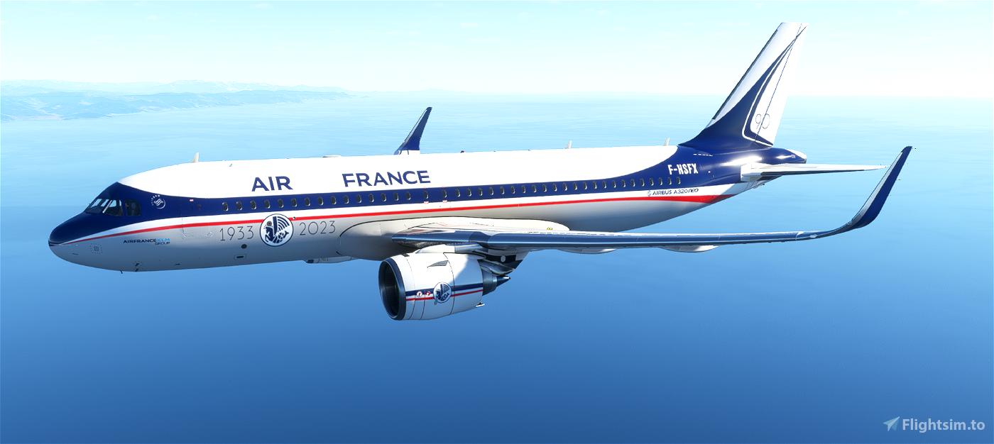 A320neo 90th AIR FRANCE Anniversary Flight Simulator 2020