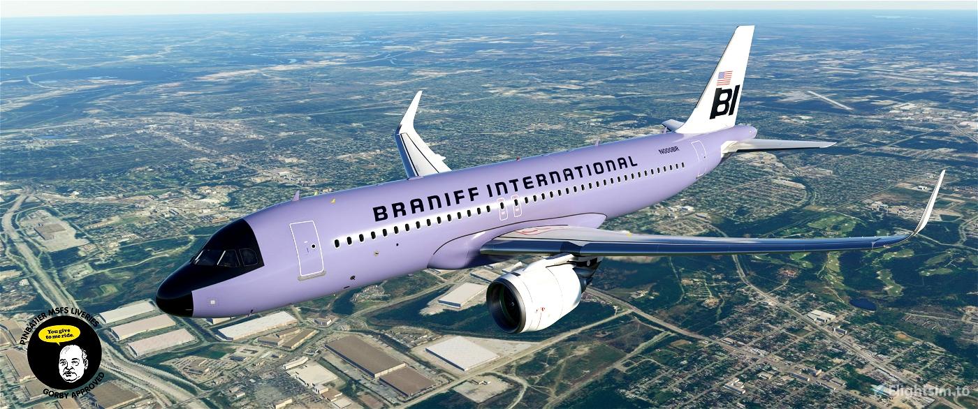Braniff International Flying Colors Retro 10 Pack [4K Livery]