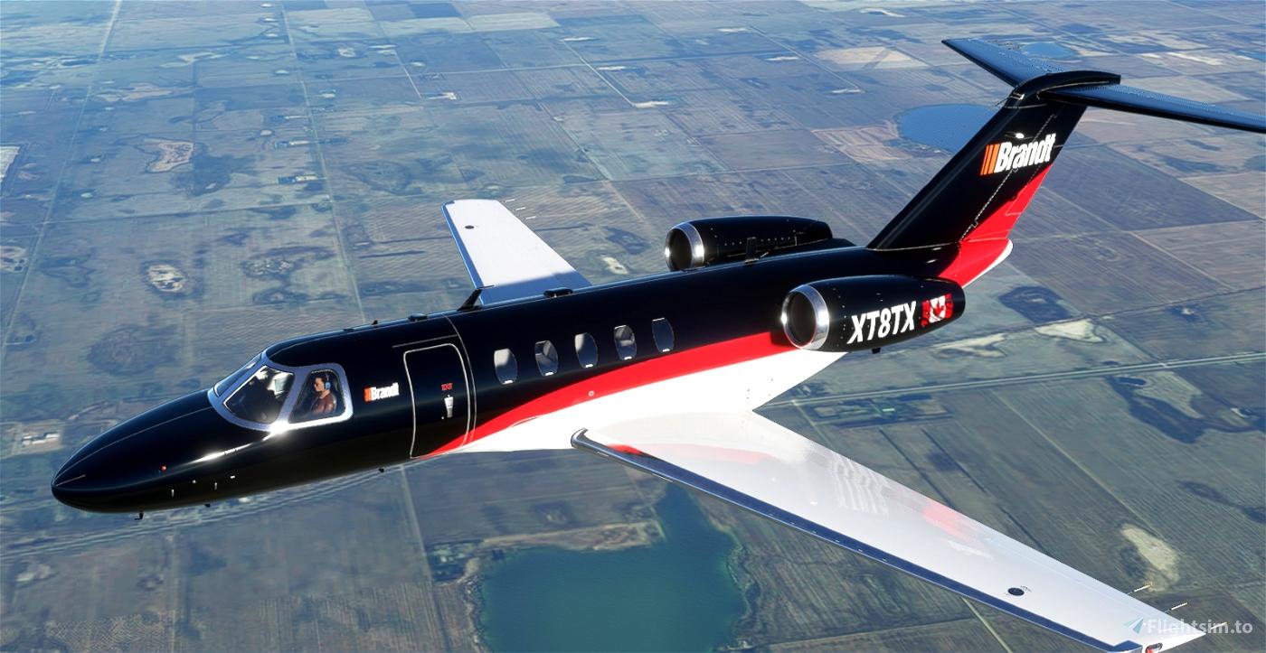 [8K] CJ4 Brandt Corporate Jet Flight Simulator 2020
