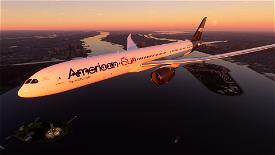 WOH Boeing 787-1000 American Sun Image Flight Simulator 2020