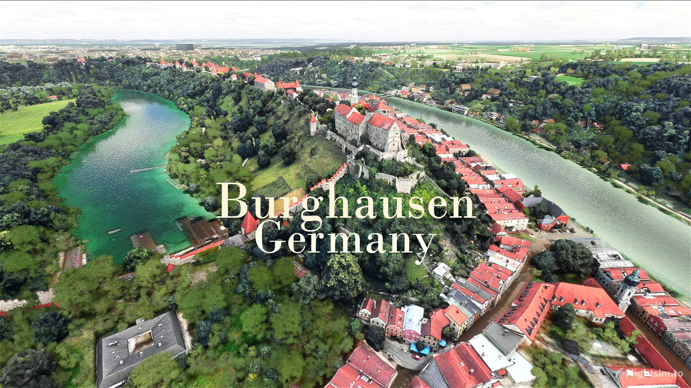 Burghausen, Germany - Photogrammetry Flight Simulator 2020